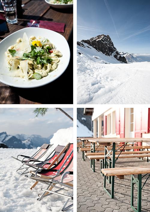 Gode dage - en enkelt madmæssigt højdepunkt: Tortellini med ricotta, ramsløg og asparges. Mums.