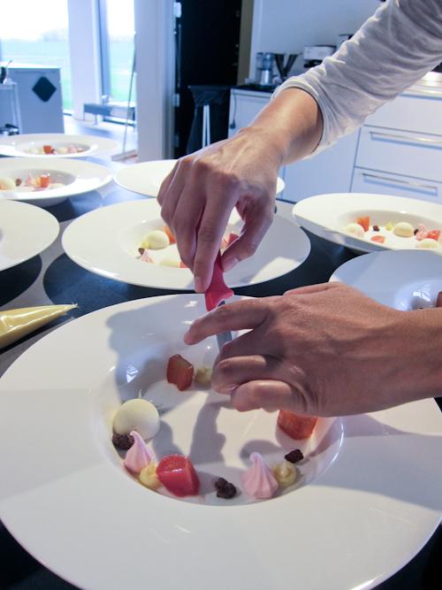 Desserten anrettes