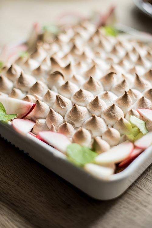 En Klon Af En Tærte æble Meringue Pie Eller æbletærte Med Marengs