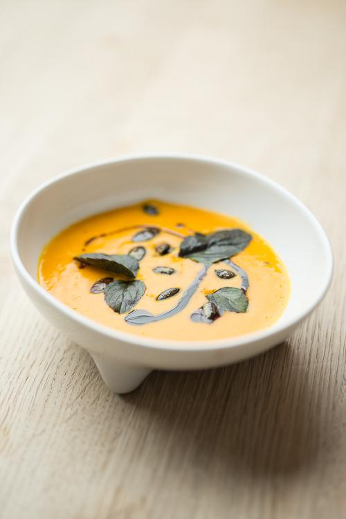 En fin portion orange suppe