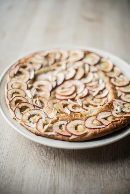Brioche med vanillecreme og æble