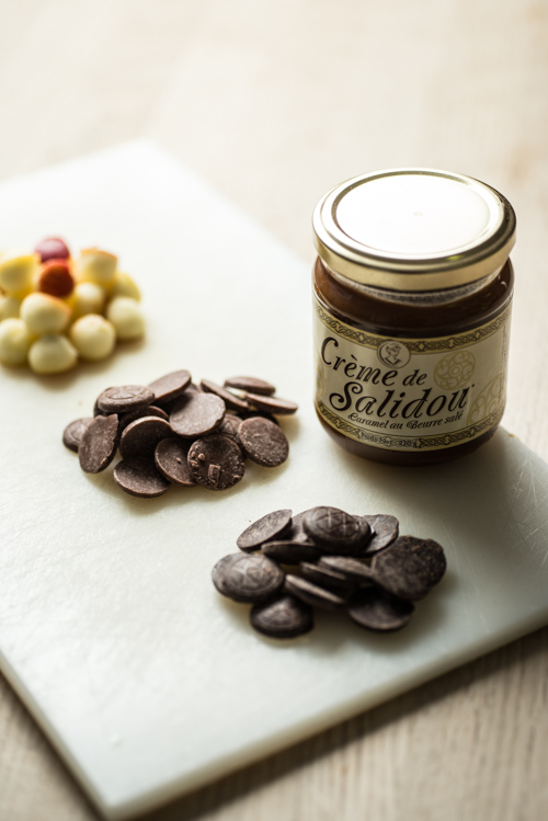 Chokoladeknapper, æblekugler og saltkaramel