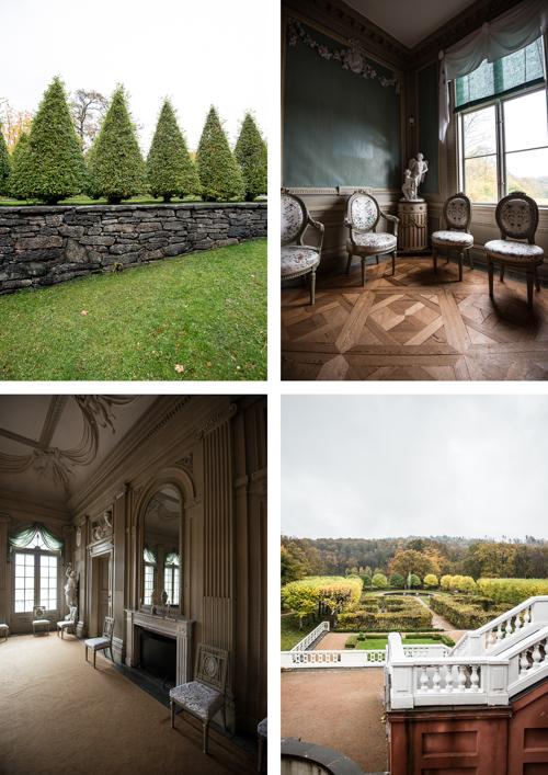 Smukke haver og ditto interiør på slottet