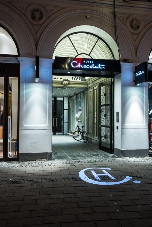 Hotel Chocolat ligger midt på Strøget
