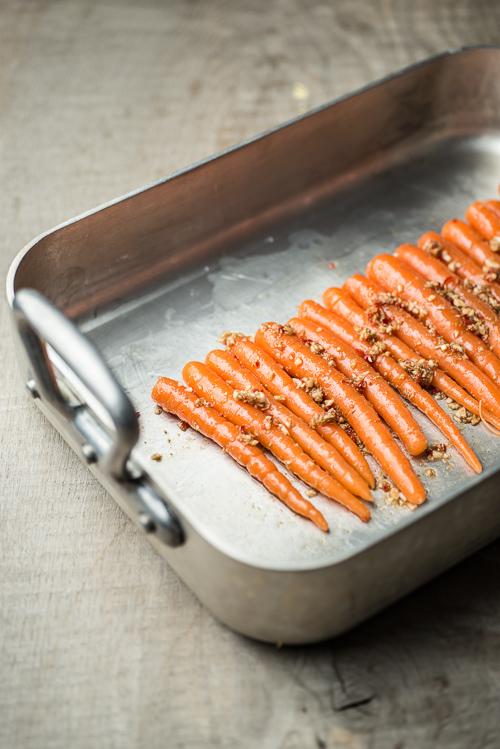 gulerødder på panden