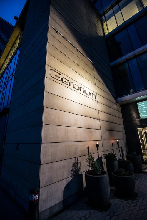 Indgangen i gadeplan til Geranium
