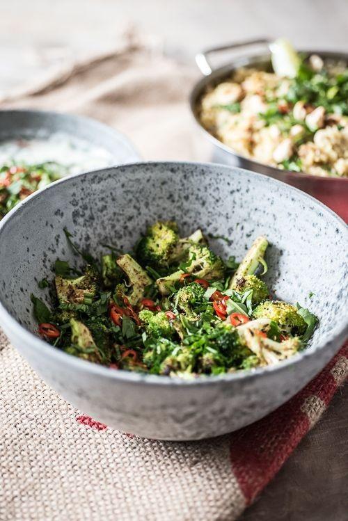 Den færdige broccoli