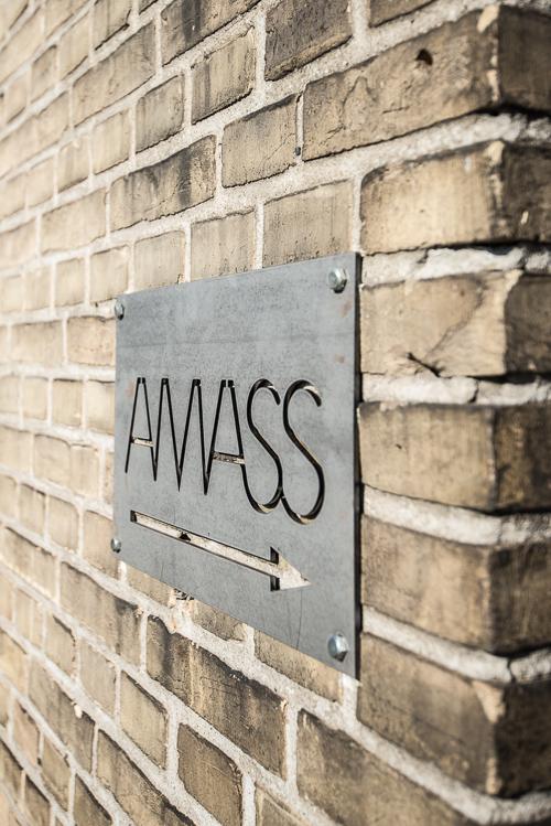 Indgangen til Amass kan være lidt tricky - op ad trappen og ned igen