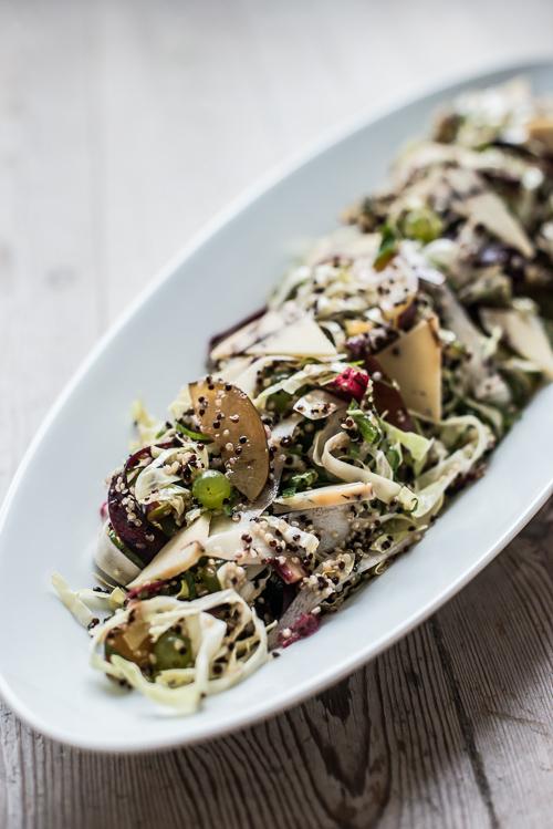 En smuk salat med masser af farve - trods årstiden