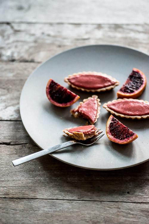 Yndige pink blodappelsintærter