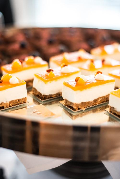 Cheesecakes på rad og række