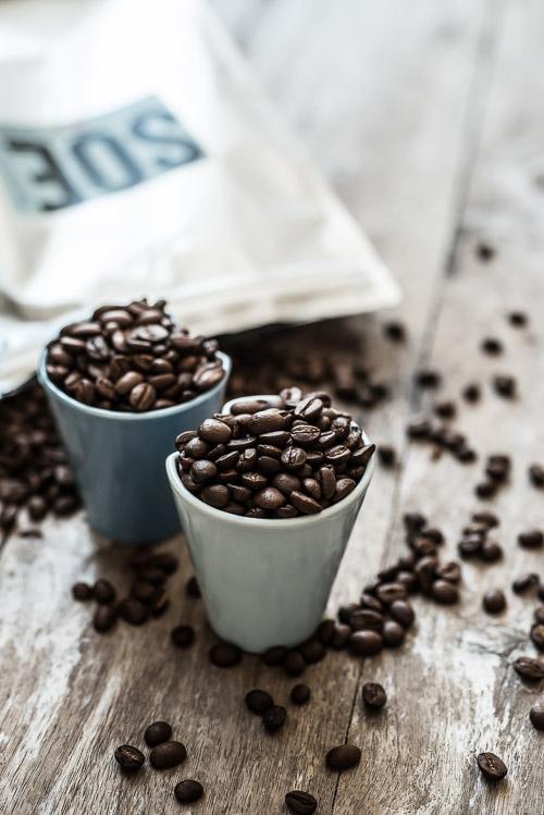 De fine multibægre glæder på alle måder kaffen rigtig godt