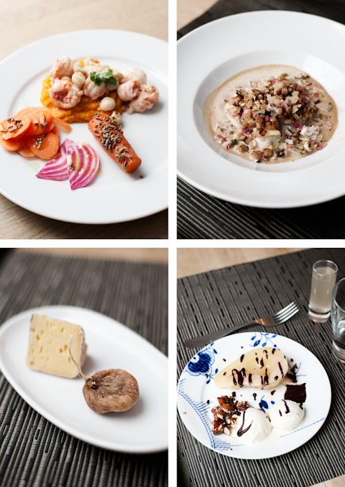 Køkkenskole i November: Jomfruhummer og gulerødder, gratineret torsk, Bette Kristian m figen og pærer, chokolade og vanilleis