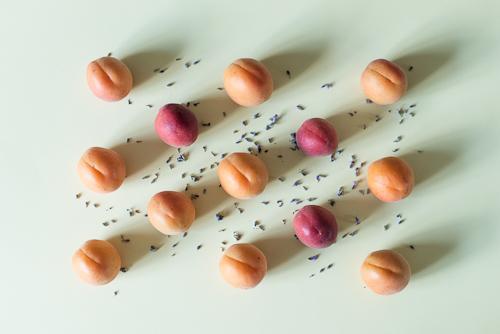 Abrikoser og lavendel i direkte import
